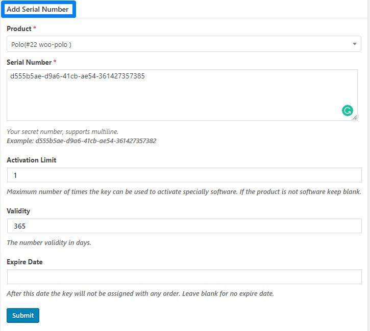 Generate Serial Numbers Manually | PluginEver